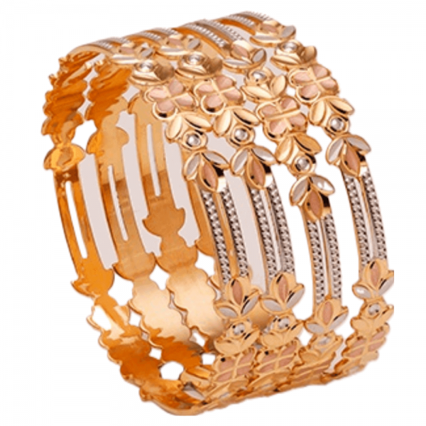 Dazzling Gold Bangles for Women P103360