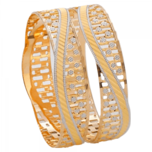 Dazzling Gold Bangles for Women PB100628