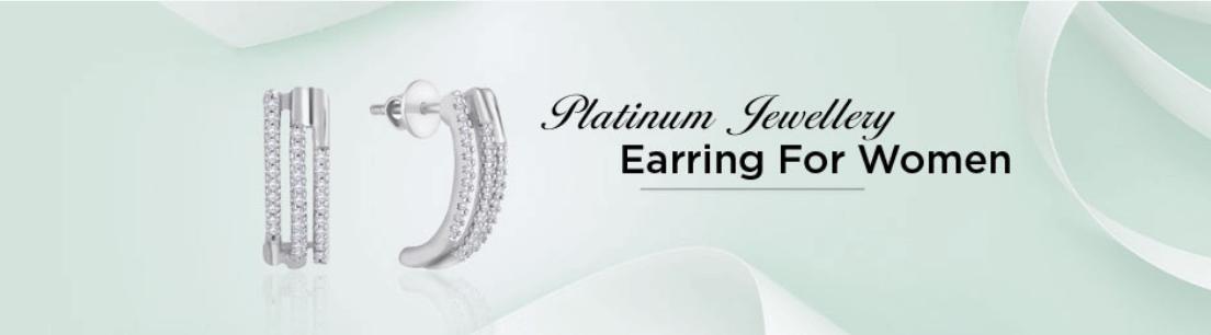 Platinum Earring for Women