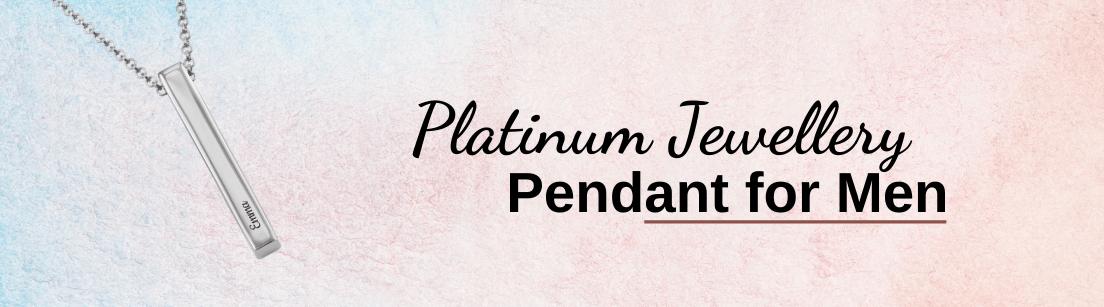 Platinum Pendant for Men