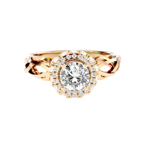 Solitaire Diamond Engagement Ring R0114