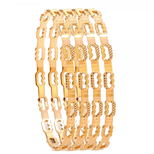 Dazzling Gold Bangles for Women R100984