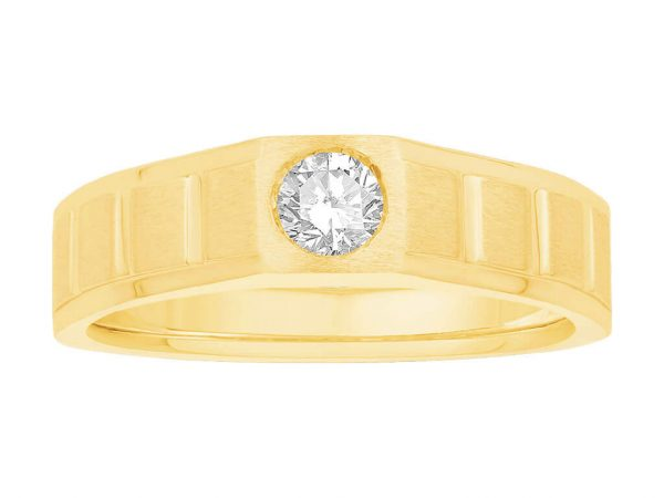 Men Solitaire Diamond Engagement Ring R5694CP