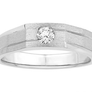 Men Solitaire Diamond Engagement Ring R6419CP