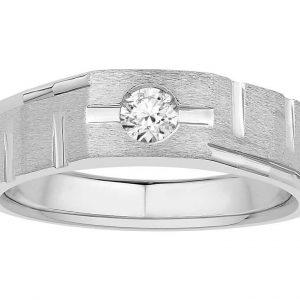 Men Solitaire Diamond Engagement Ring R6530CP