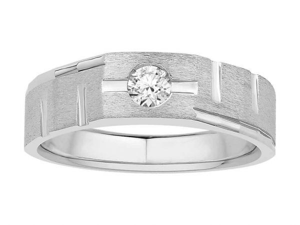 Men Solitaire Diamond Engagement Ring R6530CP