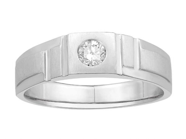 Men Solitaire Diamond Engagement Ring R6531CP