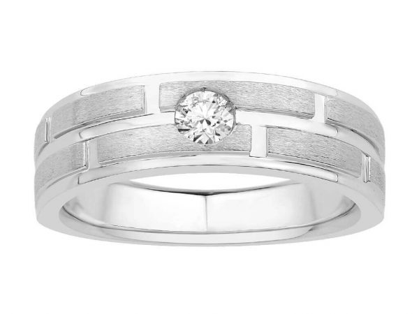 Men Solitaire Diamond Engagement Ring R6532CP