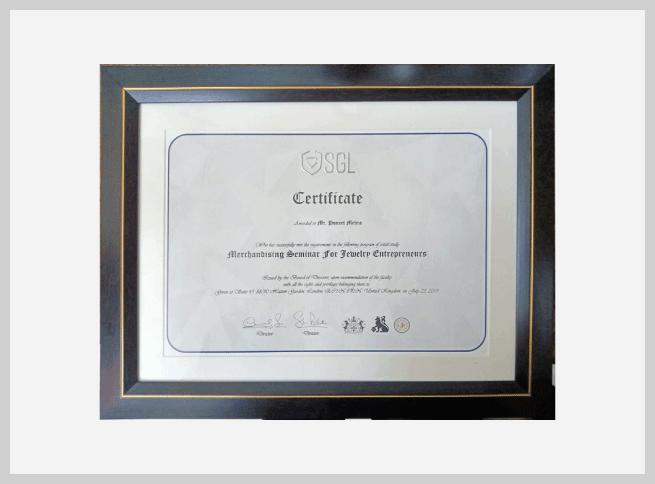 SGL-certificate