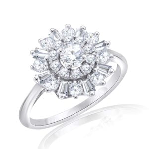 Premium Solitaire Diamond Engagement Ring for Women SMRSJ01544
