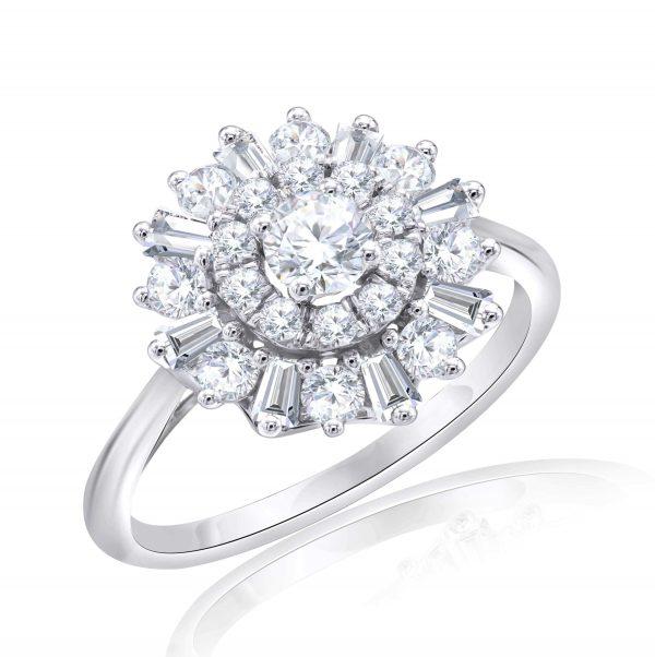 Premium Solitaire Diamond Engagement Ring for Women SMRSJ01544