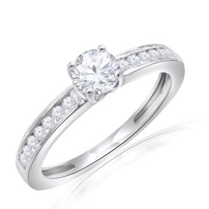 Premium Solitaire Diamond Engagement Ring for Women SMRSJ01549