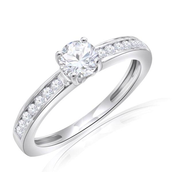Premium Solitaire Diamond Engagement Ring for Women SMRSJ01549