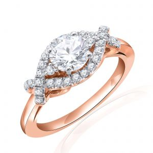 Premium Solitaire Diamond Engagement Ring for Women SMRSJ01558