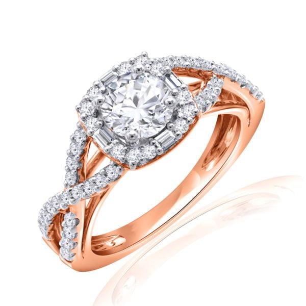 Premium Solitaire Diamond Engagement Ring for Women SMRSJ01559