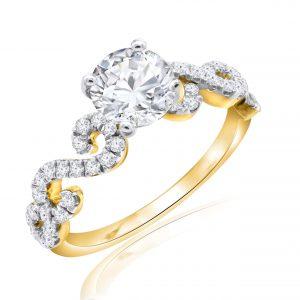 Premium Solitaire Diamond Engagement Ring for Women SMRSJ01563