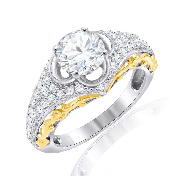 Premium Solitaire Diamond Engagement Ring for Women SMRSJ01565