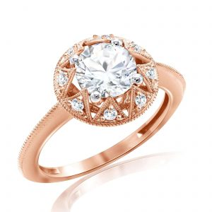 Premium Solitaire Diamond Engagement Ring for Women SMRSJ01587