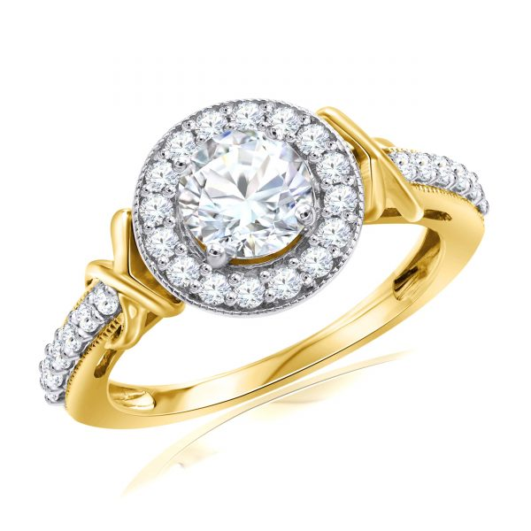 Premium Solitaire Diamond Engagement Ring for Women SMRSJ01589