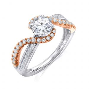Premium Solitaire Diamond Engagement Ring for Women SMRSJ01592