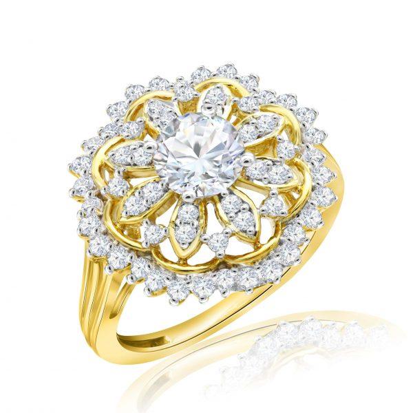 Premium Solitaire Diamond Engagement Ring for Women SMRSJ01593