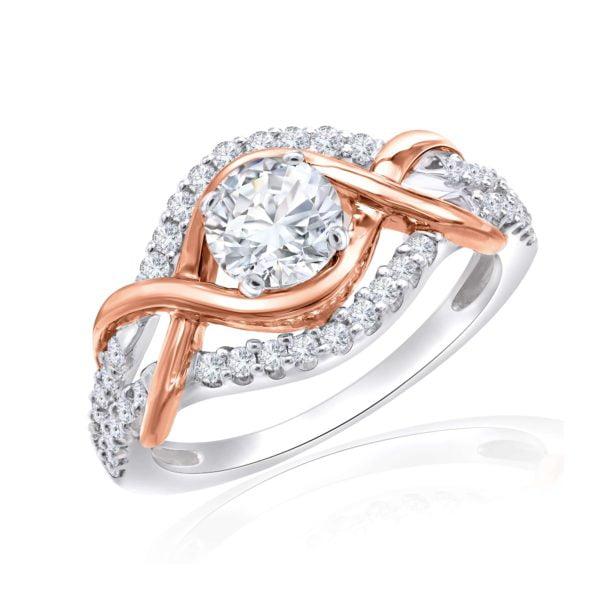 Premium Solitaire Diamond Engagement Ring for Women SMRSJ01623