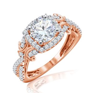 Premium Solitaire Diamond Engagement Ring for Women SMRSJ01630