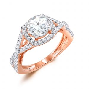 Premium Solitaire Diamond Engagement Ring for Women SMRSJ01631