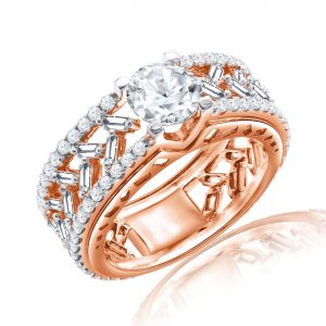 Premium Solitaire Diamond Engagement Ring for Women SMRSJ01633
