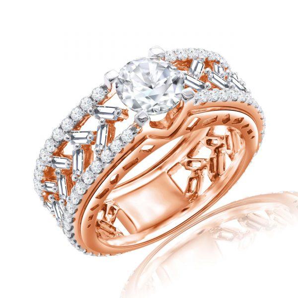 Premium Solitaire Diamond Engagement Ring for Women SMRSJ01633