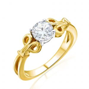 Premium Solitaire Diamond Engagement Ring for Women SMRSJ01634