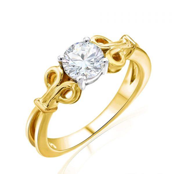 Premium Solitaire Diamond Engagement Ring for Women SMRSJ01634