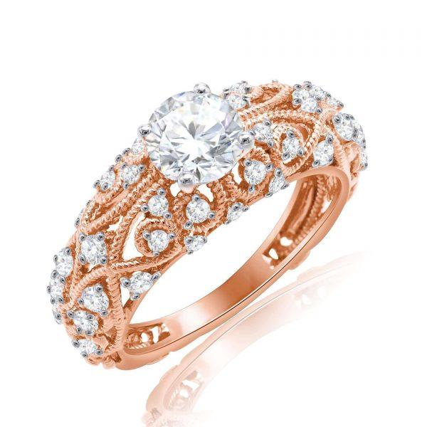 Premium Solitaire Diamond Engagement Ring for Women SMRSJ01638