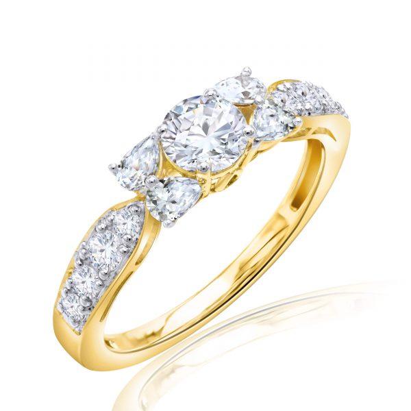 Premium Solitaire Diamond Engagement Ring for Women SMRSJ01641