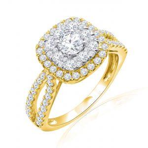 Premium Solitaire Diamond Engagement Ring for Women SMRSJ01676