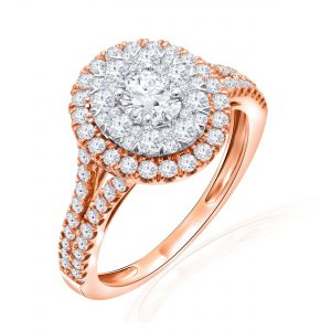 Premium Solitaire Diamond Engagement Ring for Women SMRSJ01677
