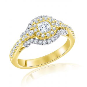 Premium Solitaire Diamond Engagement Ring for Women SMRSJ01678