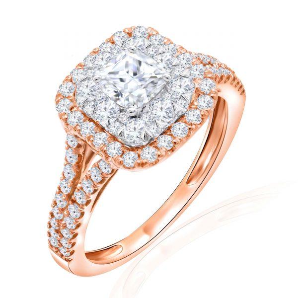 Premium Solitaire Diamond Engagement Ring for Women SMRSJ01679
