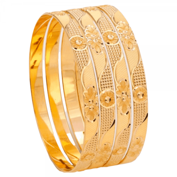 Dazzling Gold Bangles for Women SK101409