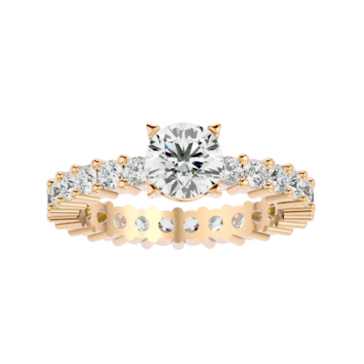 Solitaire Diamond Engagement Ring.