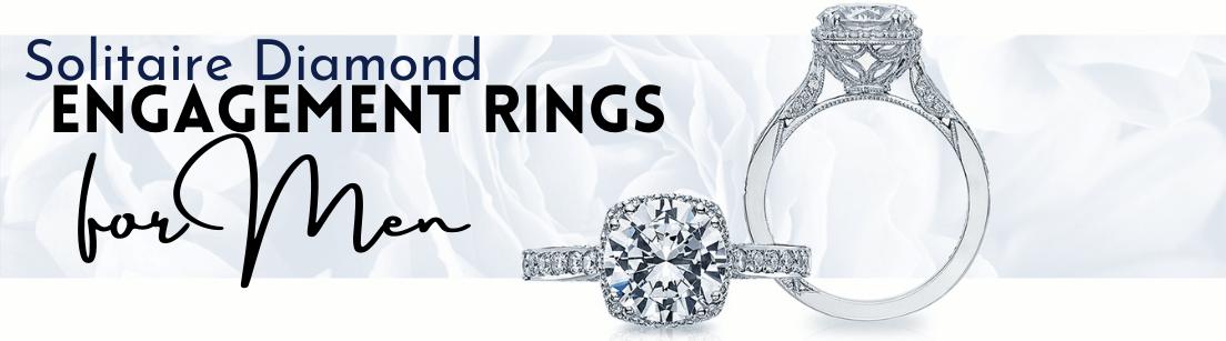 Solitaire Diamond Engagement Rings for Men