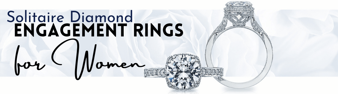 Solitaire Diamond Engagement Rings for Women