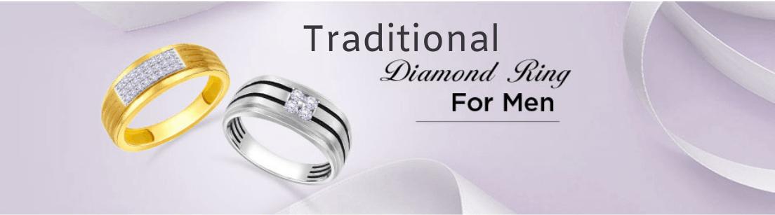 Taditional Diamond Rings for Men