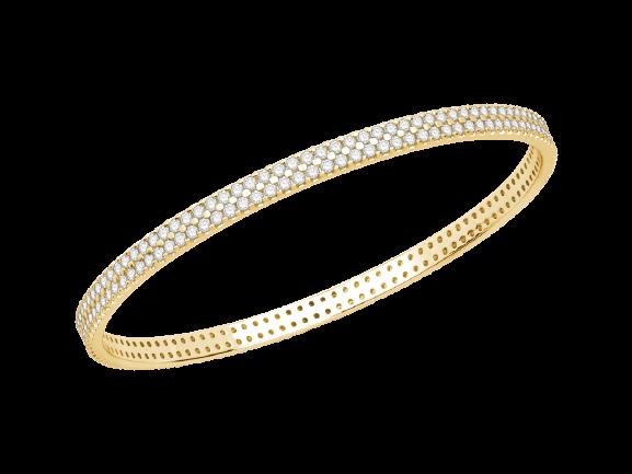 Gold Diamond Bangle V0966