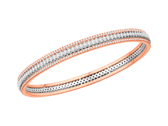 Rose Gold Diamond Bangle V1442SO