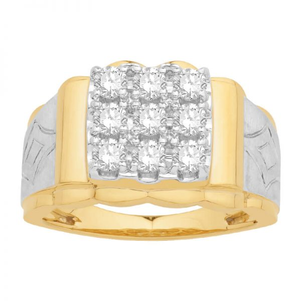 Men Traditional Diamond Engagement Ring WM0158