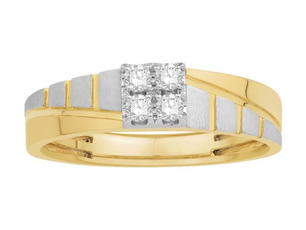 Men Traditional Diamond Engagement Ring WM0175