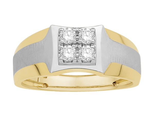 Men Traditional Diamond Engagement Ring WM0181