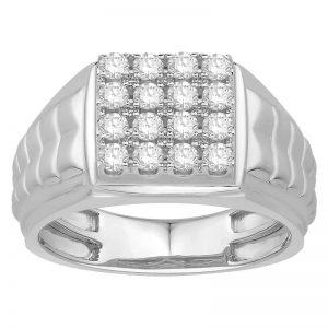 Men Traditional Diamond Engagement Ring WM0284