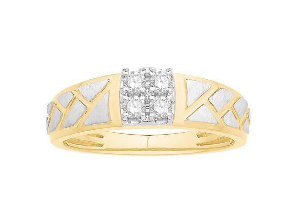 Men Traditional Diamond Engagement Ring WM0334